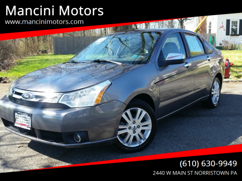 2011 Ford Focus SEL for sale at Mancini Motors in Norristown PA