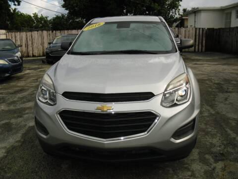 2016 Chevrolet Equinox for sale at SUPERAUTO AUTO SALES INC in Hialeah FL