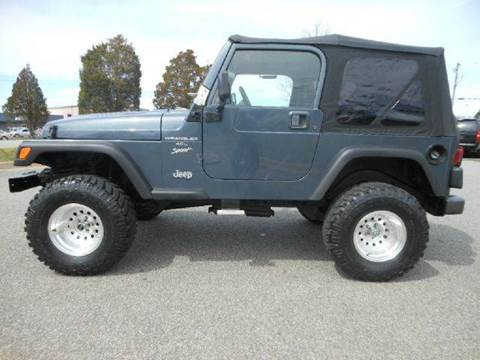 2001 Jeep Wrangler Unlimited for sale at Platinum Auto World in Fredericksburg VA