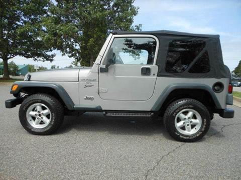 2000 Jeep Wrangler for sale at Platinum Auto World in Fredericksburg VA