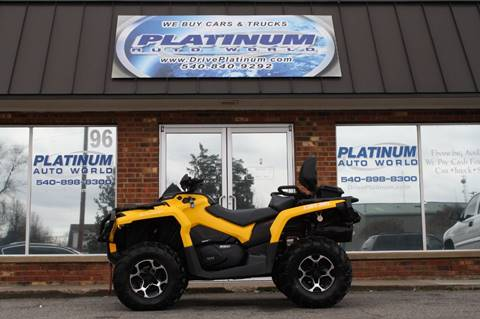 2016 Can-Am Outlander™ for sale at Platinum Auto World in Fredericksburg VA