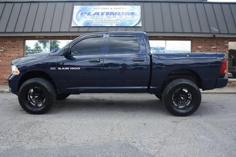 2012 RAM Ram Pickup 1500 for sale at Platinum Auto World in Fredericksburg VA