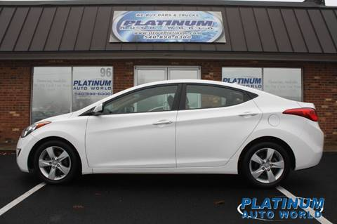 2013 Hyundai Elantra for sale at Platinum Auto World in Fredericksburg VA