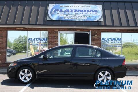 2007 Honda Civic for sale at Platinum Auto World in Fredericksburg VA