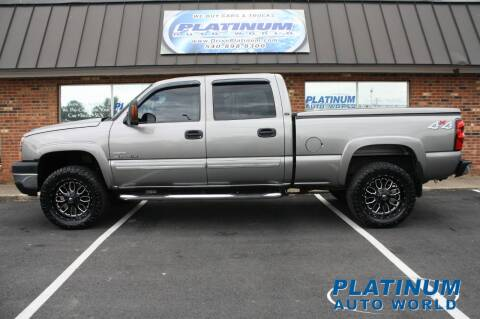 2006 Chevrolet Silverado 2500HD for sale at Platinum Auto World in Fredericksburg VA