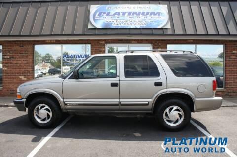 2000 Chevrolet Blazer for sale at Platinum Auto World in Fredericksburg VA