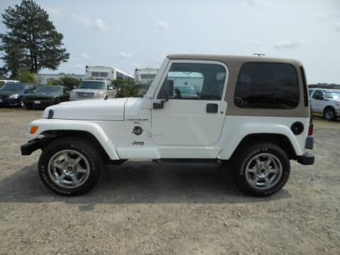 2001 Jeep Wrangler for sale at Platinum Auto World in Fredericksburg VA