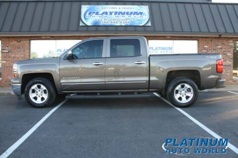 2014 Chevrolet Silverado 1500 for sale at Platinum Auto World in Fredericksburg VA