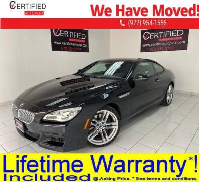 2016 BMW 6 Series 650i for sale at CERTIFIED AUTOPLEX INC in Dallas TX