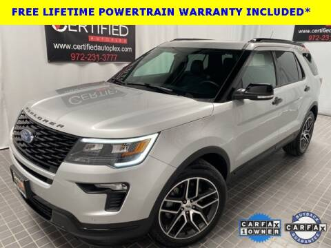 2019 Ford Explorer for sale at CERTIFIED AUTOPLEX INC in Dallas TX