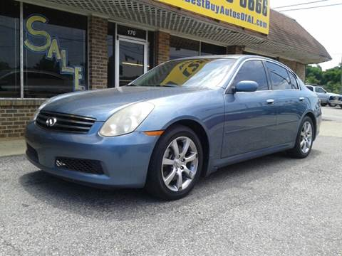 2006 Infiniti G35 for sale at Best Buy Autos in Mobile AL
