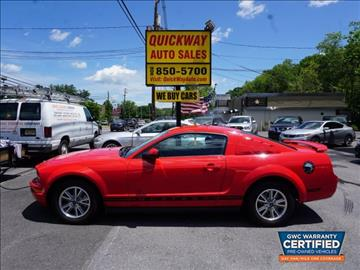 2005 Ford Mustang for sale at Quickway Auto Sales in Hackettstown NJ