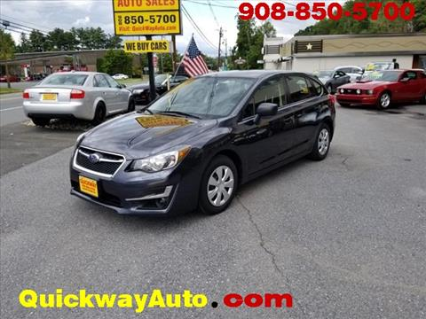 2016 Subaru Impreza for sale at Quickway Auto Sales in Hackettstown NJ