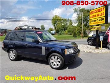 2007 Land Rover Range Rover for sale at Quickway Auto Sales in Hackettstown NJ