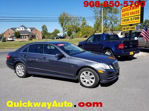 2012 Mercedes-Benz E-Class for sale at Quickway Auto Sales in Hackettstown NJ
