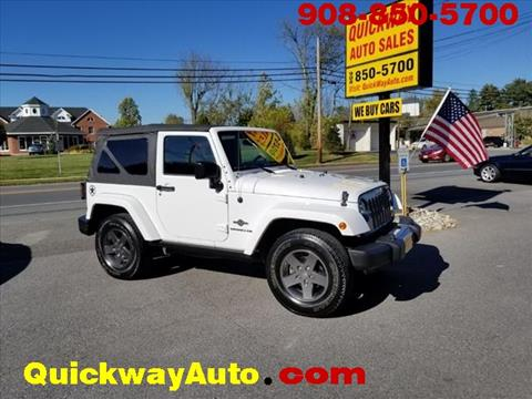 2015 Jeep Wrangler for sale at Quickway Auto Sales in Hackettstown NJ