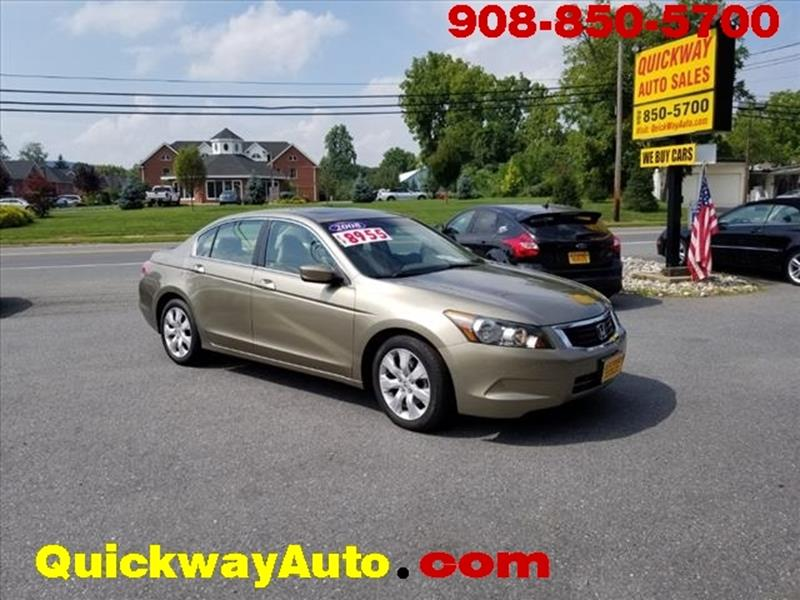 2008 Honda Accord For Sale At Quickway Auto Sales In Hackettstown NJ