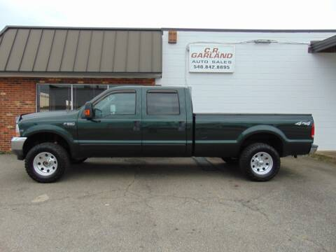 2003 Ford F-250 Super Duty for sale at CR Garland Auto Sales in Fredericksburg VA
