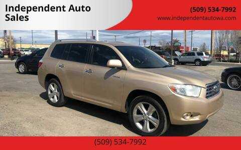 2008 Toyota Highlander for sale at Independent Auto Sales #2 in Spokane WA