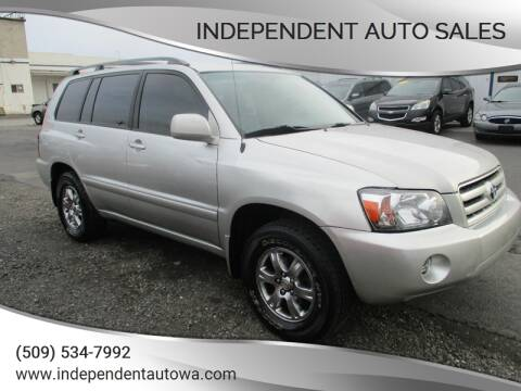 2004 Toyota Highlander for sale at Independent Auto Sales #2 in Spokane WA