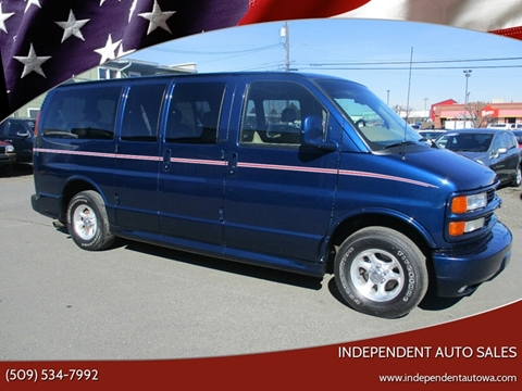 2002 Chevrolet Express Passenger 1500 LT for sale at Independent Auto Sales in Spokane Valley WA
