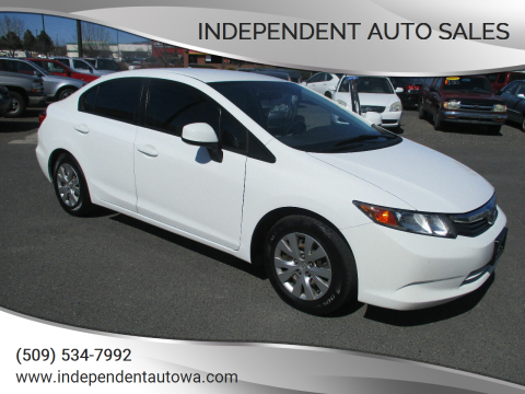 2012 Honda Civic LX for sale at Independent Auto Sales in Spokane Valley WA