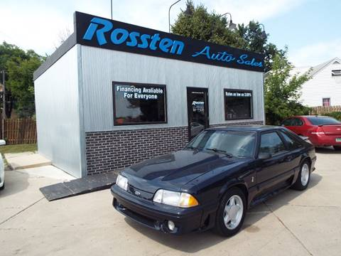 1988 Ford Mustang for sale at ROSSTEN AUTO SALES in Grand Forks ND