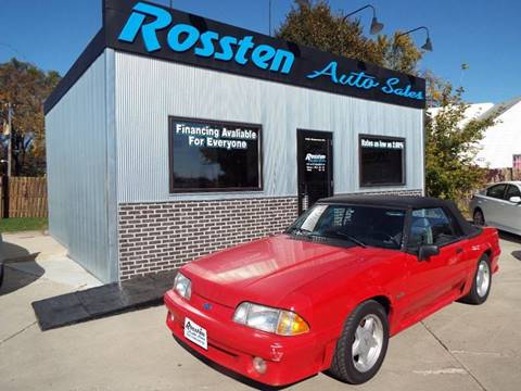 1992 Ford Mustang for sale at ROSSTEN AUTO SALES in Grand Forks ND