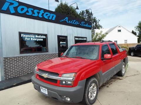 2002 Chevrolet Avalanche for sale at ROSSTEN AUTO SALES in Grand Forks ND