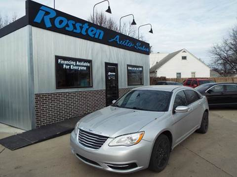 2012 Chrysler 200 for sale at ROSSTEN AUTO SALES in Grand Forks ND