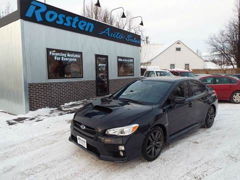 2016 Subaru WRX for sale at ROSSTEN AUTO SALES in Grand Forks ND
