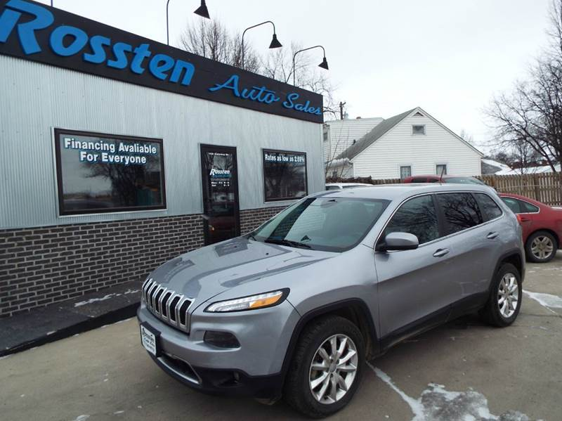 2015 Jeep Cherokee for sale at ROSSTEN AUTO SALES in Grand Forks ND
