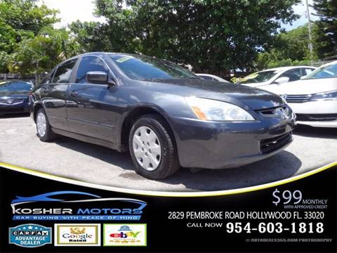 2004 Honda Accord for sale in Hollywood, FL