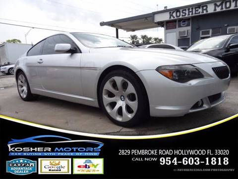 2004 BMW 6 Series for sale in Hollywood, FL