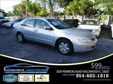 2005 Honda Accord for sale in Hollywood, FL