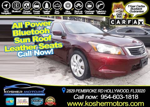 2010 Honda Accord for sale in Hollywood, FL