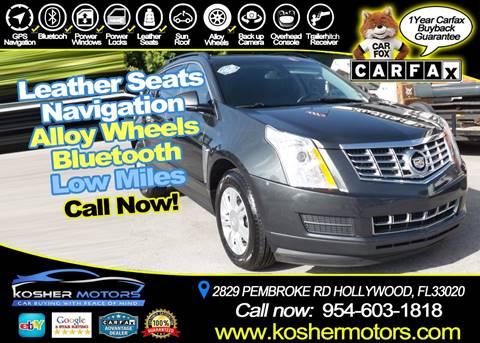 2014 Cadillac SRX for sale in Hollywood, FL