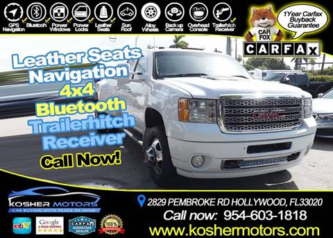 2013 GMC Sierra 3500HD for sale in Hollywood, FL