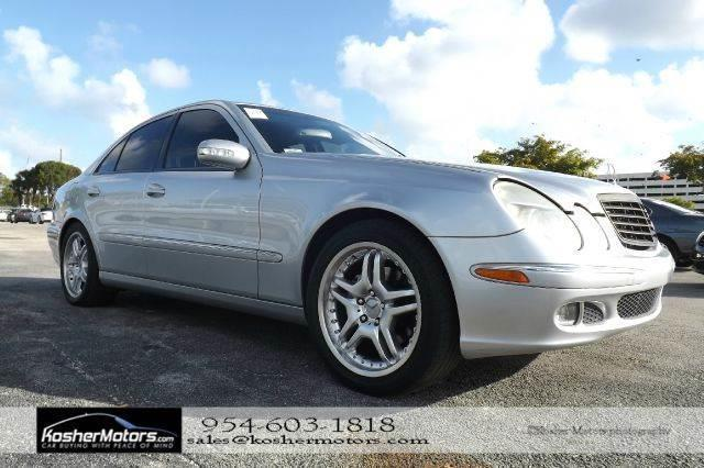 2005 MERCEDES-BENZ E-CLASS E500 4DR SEDAN silver no credit needed   leather seats sunroof nav