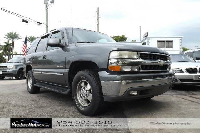 2001 CHEVROLET TAHOE LT 2WD 4DR SUV gray leather seats power seats clean title carfax availabl