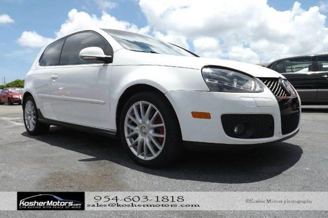 2006 VOLKSWAGEN GTI BASE NEW 2DR HATCHBACK white no credit needed   sunroof power seats clean
