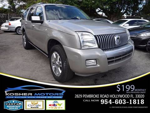 2007 Mercury Mountaineer for sale in Hollywood, FL