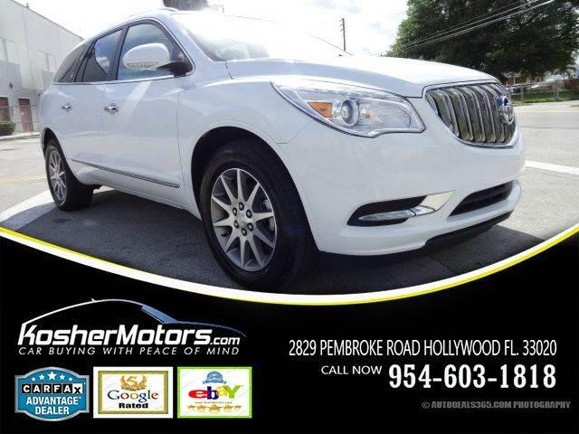2016 BUICK ENCLAVE LEATHER 4DR SUV white leather seats panoramic sunroof power seats parking s