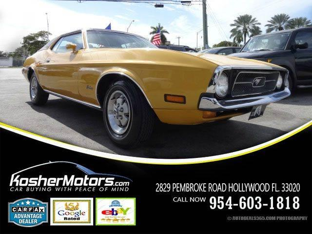 1972 FORD MUSTANG UNSPECIFIED yellow 1972 original mustang 351 in pristine restored condition mo