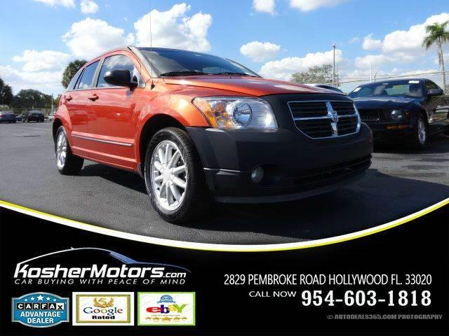 2008 DODGE CALIBER RT 4DR WAGON orange no credit needed   sunroof dvd power seats clean tit