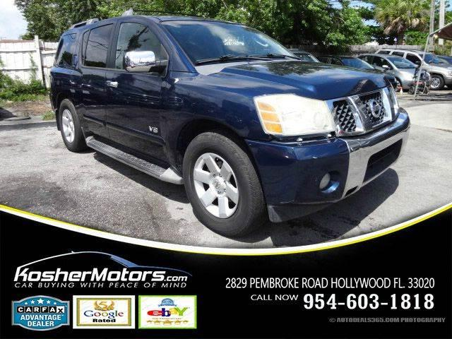 2006 NISSAN ARMADA LE 4DR SUV blue leather interior power seats running boards alloy wheels 18