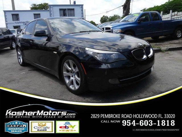 2010 BMW 5 SERIES 535I 4DR SEDAN black no credit needed   leather seats sunroof power seats