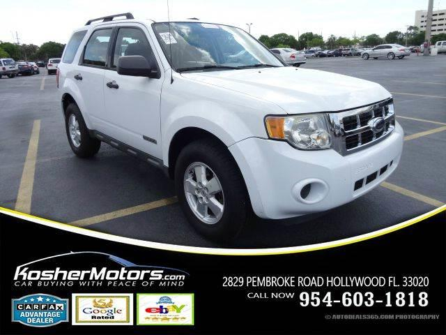2008 FORD ESCAPE XLS 4DR SUV 23L I4 4A white clean title carfax available the ford escape ha