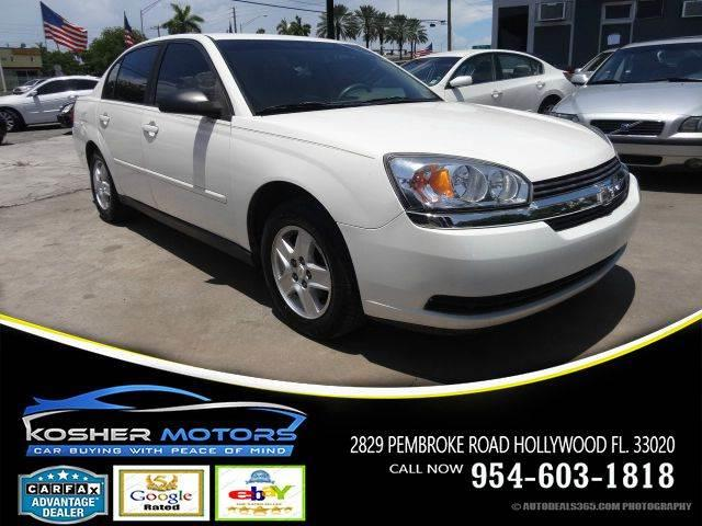 2004 CHEVROLET MALIBU LS 4DR SEDAN white no credit needed  chevrolet has completely redesigned
