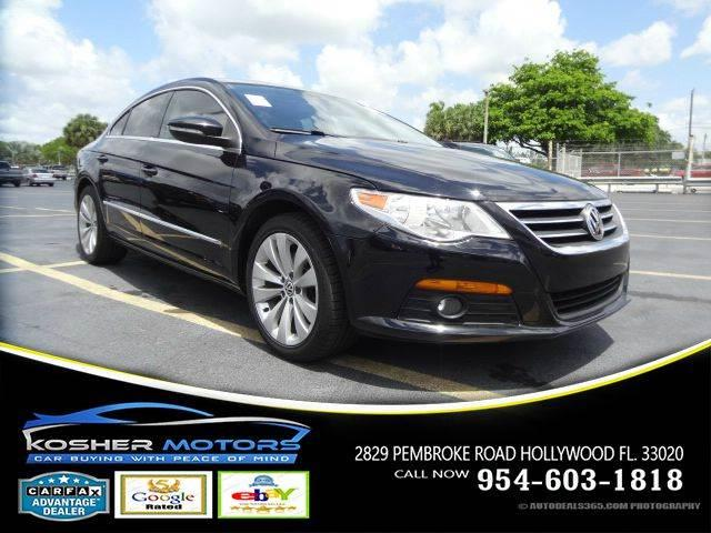 2009 VOLKSWAGEN CC SPORT 4DR SEDAN 6A black no credit needed leather seats clean title carfax